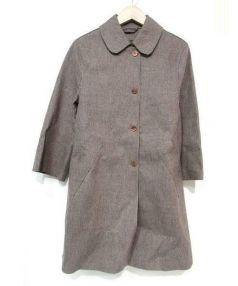 MACKINTOSH(マッキントッシュ)の古着「ゴム引きチェックコート」|ブラウン