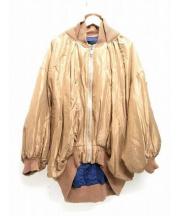 UNDERCOVER(アンダーカバー)の古着「ビッグサイズシルクMA-1 ジャケット」 ベージュ