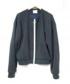 WRAPINKNOT(ラッピンノット)の古着「別注ノーカラーリングジップジャケット」|ネイビー