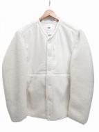 adidas(アディダス)の古着「ボア切替ジャケット」|ホワイト