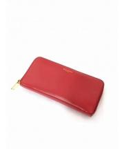 SAINT LAURENT PARIS(サンローラン パリ)の古着「ラウンドファスナー財布」|レッド