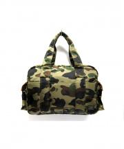 PORTER×A BATHING APE(ポーター×アベイシング エイプ)の古着「PRINT 1ST CAMO BOSTON BAG バッグ」|オリーブ