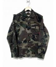 WTAPS(ダブルタップス)の古着「カモフラミリタリーシャツ ジャケット」|オリーブ