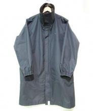 DESCENDANT(ディセンダント)の古着「ハイネックナイロンジャケット コート」|グレー