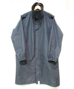 DESCENDANT(ディセンダント)の古着「ハイネックナイロンジャケット コート」 グレー