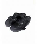 BIRKENSTOCK × RICK OWENS(ビルケンシュトック×リックオウエンス)の古着「ARIZONA EXTRO Fur」|ブラック