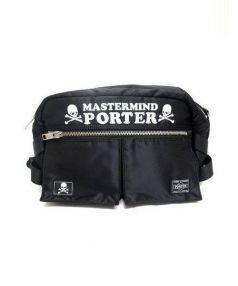 PORTER×Mastermind(ポーター×マスターマインド)の古着「コラボウエストバッグ」|ブラック