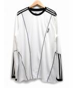 adidas×PALACE(アディダス×パレス)の古着「カットソー」|ホワイト×ブラック