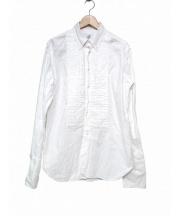 Black Fleece(ブラックフリース)の古着「ダブルカフスロングシャツ」 ホワイト