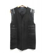 DRESSEDUNDRESSED(ドレスドアンドレスド)の古着「ベスト」 ブラック