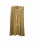 muller of yoshiokubo(ミュラー オブ ヨシオクボ)の古着「プリーツスカート」|ブラウン