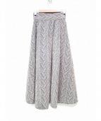 ELIN(エリン)の古着「ツイードハイウエストスカート」|ベージュ×ブラック