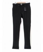 YVES SAINT LAURENT(イヴサンローラン)の古着「ベルト付ウールパンツ」|ブラック