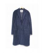 Casely-Hayford(ケイスリーヘイフォード)の古着「モヘヤ混チェスターコート」|ネイビー