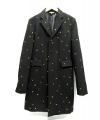 BLACK COMME des GARCONS(ブラックコムデギャルソン)の古着「ポリエステルギャバ刺繍テーラードコート」