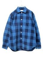 ROTT WEILER(ロットワイラ)の古着「USED加工ブロックチェックシャツ」