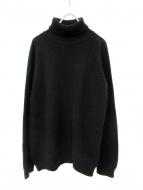 crepuscule(クレプスキュール)の古着「whole garment turtle-neck ニット」|ブラック