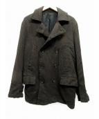 COMME des GARCONS HOMME(コムデギャルソンオム)の古着「ウールPコート」 ブラウン