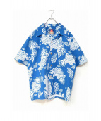 blackmeans(ブラックミーンズ)の古着「オープンカラーシャツ」|ブルー