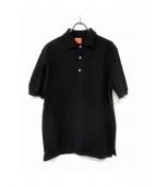Andersen-Andersen(アンデルセンアンデルセン)の古着「ニットポロシャツ」|ブラック