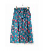BEAMS BOY(ビームスボーイ)の古着「花柄スカート」|ブルー