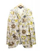 COMME des GARCONS HommePlus(コムデギャルソンオムプリュス)の古着「プリントテーラードジャケット」|ベージュ