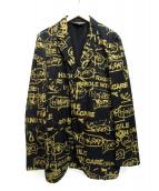COMME des GARCONS HommePlus(コムデギャルソン オムプリュス)の古着「プリント3Bジャケット」|ネイビー