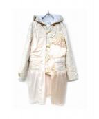 keisuke kanda(ケイスケカンダ)の古着「ネグリジェ貼り飾りのコート」|アイボリー