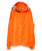 A BATHING APE(ア ベイシング エイプ)の古着「タイガーパーカー」 オレンジ