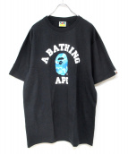 A BATHING APE(ア ベイシング エイプ)の古着「ロゴTシャツ」|ブラック