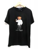 POLO RALPH LAUREN(ポロ バイ ラルフローレン)の古着「ポロベアプリントTシャツ」|ブラック