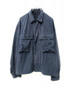 45R(フォーティーファイブアール)の古着「後染めウェザーミリタリーブルゾン」|ネイビー