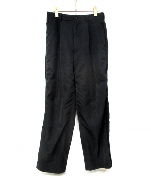 COMME des GARCONS HOMME(コムデギャルソンオム)COMME des GARCONS HOMME (コムデギャルソンオム) 2タックサイドラインパンツ ネイビー サイズ:Mの古着・服飾アイテム