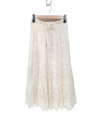 beautiful people(ビューティフル ピープル)の古着「ジャガードレースティーアドスカート」|ホワイト