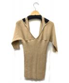 muller of yoshiokubo(ミュラーオブヨシオクボ)の古着「Back button knit」|ベージュ