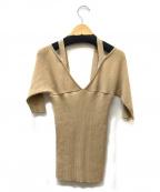 muller of yoshiokubo()の古着「Back button knit」|ベージュ