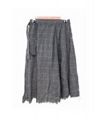 sulvam(サルバム)の古着「wrap skirt/ラップスカート」|グレー