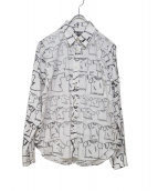 BLACK COMME des GARCONS(ブラックコムデギャルソン)の古着「プリントシャツ」|ホワイト