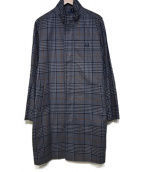 FRED PERRY × BEAMS(フレッドペリー × ビームス)の古着「別注チェックスクーターコート」|ブルー