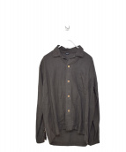 45R(フォーティファイブアール)の古着「リネンシャツ」|グレー