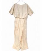 ENFOLD(エンフォルド)の古着「Linen2バッグオールインワン」 アイボリー