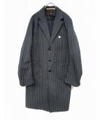 SCYEBASICS(サイベーシックス)の古着「ベーシックモーニングショップコート」|ブラック×グレー