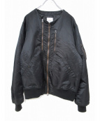 FOH.(エフオーエイチ)の古着「ノーカラーMA-1ジャケット」|ブラック