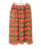 COMME des GARCONS COMME des GARCONS(コムデギャルソン コムデギャルソン)の古着「フラワー刺繍スカート」 レッド×グリーン