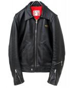 Lewis Leathers(ルイスレザーズ)の古着「レザージャケット」|ブラック