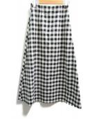 SLOBE IENA(イエナスローブ)の古着「ロングスカート」|ホワイト×ブラック