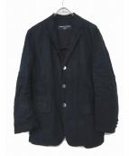 COMME des GARCONS HOMME(コムデギャルソンオム)の古着「リネンシャツジャケット」 ネイビー