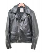 Lewis Leathers(ルイスレザーズ)の古着「レザーダブルライダースジャケット」|ブラック