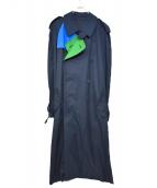 PHENOMENON(フェノメノン)の古着「トレンチコート」 グリーン×ネイビー