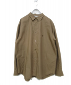 COOTIE PRODUCTIONS(クーティー プロダクツ)の古着「コットンシャツ」 ブラウン